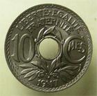 Photo numismatique  Monnaies Monnaies Fran�aises Troisi�me R�publique 10 Centimes 10 centimes Lindauer 1917, G.286 Quasi FDC Rare dans cet �tat !!!