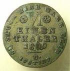 Photo numismatique  Monnaies Monnaies Françaises Napoleonides VI einen thaler JEROME NAPOLEON, WESTPHALIE (westphalia, Hieronimus napoleon) VI eine thaler 1809 B, KM.11 TTB