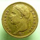 Photo numismatique  Monnaies Monnaies Française en or 1er Empire 20 Francs or NAPOLEON Ier, 20 francs or 1810 U Turin, G.1025 Bon TTB Rare!