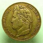 Photo numismatique  Monnaies Monnaies Françaises Louis Philippe 20 Francs or LOUIS PHILIPPE Ier, 20 francs or 1843 A Paris, G.1031 TTB