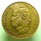 Photo numismatique  Monnaies Monnaies Françaises Louis Philippe 20 Francs or LOUIS PHILIPPE Ier, 20 francs or 1846 A Paris, G.1031 TTB+