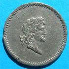 Photo numismatique  Monnaies Monnaies Françaises 1er Empire Essais / Epreuve NAPOLEON Ier Epreuve en étain VG.1264 Variante TTB Rare!