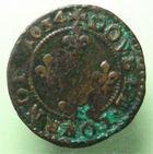 Photo numismatique  Monnaies Monnaies Féodales Ardennes Double Tournois ARDENNES, Seigneurie de Cugnon, Jean Théodore de Löwenstein, double tournois 1634, PA.6373 TB+ Rare!