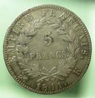 Photo numismatique  Monnaies Monnaies Françaises 1er Empire 5 Francs NAPOLEON Ier, 5 francs 1811 K Bordeaux, G.584 TTB+