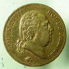 Photo numismatique  Monnaies Monnaies Françaises Louis XVIII 40 Francs or LOUIS XVIII 40 francs or au buste nu, 1819 W Lille (4610 exemplaires), G.1092 TTB