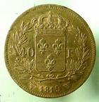 Photo numismatique  Monnaies Monnaies Fran�aises Louis XVIII 40 Francs or LOUIS XVIII 40 francs or au buste nu, 1819 W Lille (4610 exemplaires), G.1092 TTB