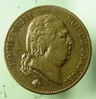 Photo numismatique  Monnaies Monnaies Françaises Louis XVIII 40 Francs or LOUIS XVIII, 40 francs or au buste nu,1820 A Variété 2 sur 1, très peu d'exemplaires !!! TTB très rare!