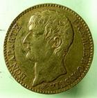 Photo numismatique  Monnaies Monnaies Françaises Consulat 40 Francs or NAPOLEON Ier, Bonaparte 1er consul, 40 francs or AN XI A, G.1080 TTB