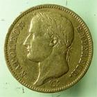 Photo numismatique  Monnaies Monnaies Françaises 1er Empire 40 Francs or NAPOLEON Ier, 40 francs or 1811 K Bordeaux, (6333 exemplaires) G.1084 TTB