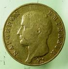 Photo numismatique  Monnaies Monnaies Françaises 1er Empire 40 Francs or NAPOLEON Ier, 40 francs or AN 14 W Lille, très peu d'exemplaires!!, G.1081 TTB R!R!R