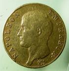 Photo numismatique  Monnaies Monnaies Françaises 1er Empire 40 Francs or NAPOLEON Ier, 40 francs or 1806 W Lille, (4336 exemplaires) G.1082 TTB