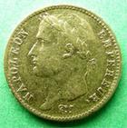 Photo numismatique  Monnaies Monnaies Française en or 1er Empire 20 Francs or NAPOLEON Ier, 20 francs or 1809 K (poisson),3614 exemplaires, G.1025 TTB