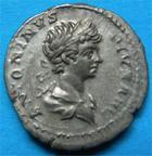Photo numismatique  Monnaies Empire Romain CARACALLA Denier, denar, denario, denarius CARACALLA denier 202 ap.JC revers à la galère RIC 120 TTB