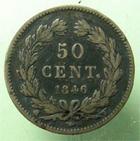 Photo numismatique  Monnaies Monnaies Fran�aises Louis Philippe 50 Centimes LOUIS PHILIPPE Ier, 50 centimes 1846 W Lille, G.410 TB+