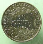 Photo numismatique  Monnaies Monnaies Fran�aises Troisi�me R�publique 50 Centimes 50 centimes C�r�s 1887 A, G.419a TTB+