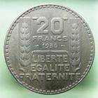Photo numismatique  Monnaies Monnaies Françaises Troisième République 20 Francs 20 Francs Turin 1936, G.852 SUPERBE Rare!