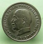 Photo numismatique  Monnaies Monnaies Françaises Etat Français 5 francs Petain 5 Francs Pétain 1941, G.764 TTB+  rare et recherché!!