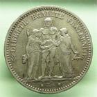 Photo numismatique  Monnaies Monnaies Françaises Défense nationale 5 Francs 5 Francs Hercule, 1870 A, G.745 TTB