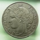 Photo numismatique  Monnaies Monnaies Françaises Consulat 5 Francs 5 Francs Cérès sans légende, 1870 K Bordeaux,M+E.A.OUDINE, G.742 TTB+