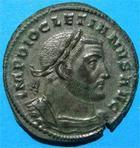 Photo numismatique  Monnaies Empire Romain 4ème siècle  DIOCLETIEN Follis DIOCLETIEN follis, Trêves, avec argenture!!, Cohen 86 variante, Superbe!!