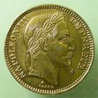 Photo numismatique  Monnaies Monnaies Française en or Second Empire 20 Francs en platine NAPOLEON III, Faux 20 francs en platine, 1868 A, légèrev rayure dans le champs sinon SUPERBE à FDC R!