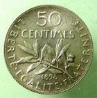 Photo numismatique  Monnaies Monnaies Françaises Troisième République 50 Centimes 50 Centimes semeuse 1898, G.420 SUPERBE à FDC