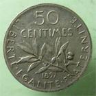 Photo numismatique  Monnaies Monnaies Françaises Troisième République 50 centimes flan mat 50 Centimes semeuse 1897 Flan mat, G.420 SUPERBE R!