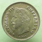 Photo numismatique  Monnaies Monnaies Françaises Second Empire 20 Cmes NAPOLEON III, 20 centimes 1867 BB Strasbourg, tête laurée, G.309 SUPERBE