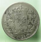 Photo numismatique  Monnaies Monnaies Françaises Charles X 2 Francs CHARLES X, 2 francs 1828 BB Strasbourg, G.516 TTB+