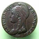 Photo numismatique  Monnaies Monnaies de la Révolution Directoire 5 Centimes DIRECTOIRE, 5 centimes AN 4 A, G.124 TTB jolie patine!!