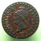 Photo numismatique  Monnaies Monnaies de la Révolution Directoire Un centime DIRECTOIRE, Un centime AN 6 A, G.76 TTB