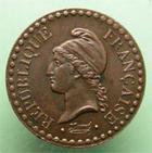 Photo numismatique  Monnaies Monnaies Françaises Deuxième République Un centime Un centime 1849 A, G.84 SUPERBE +
