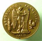 Photo numismatique  Monnaies Jetons Jeton publicitaire Laiton/carton JETON PUBLICITAIRE, module du 20 francs or genie, café de malt, KNEIPP, SUPERBE