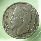 Photo numismatique  Monnaies Monnaies Françaises Second Empire 1 Franc NAPOLEON III, 1 franc 1867 A, G.463 TTB