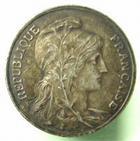 Photo numismatique  Monnaies Monnaies Françaises Troisième République 10 centimes flan argenté 10 Centimes Dupuis flan argenté, 1898, G.277 TTB+, poids de 10.44 grammes!!!
