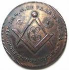 Photo numismatique  Monnaies Jetons Francs Maçons jeton en cuivre argenté Francs maçons, jeton 28.50 mm, loge de la constance eprouvée, 18/19ème, LAB.188 TTB+