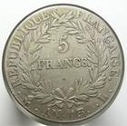 Photo numismatique  Monnaies Monnaies Françaises 1er Empire 5 Francs NAPOLEON Ier, 5 francs AN 13 L Bayonne, G.580 TB à TTB