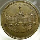 Photo numismatique  Monnaies M�dailles Exposition universelle Cuivre/laiton EXPOSITION UNIVERSELLE du champ de Mars, 1878, souvenir de l'exposition de Paris, cuivre, laiton 24 mm, TTB+