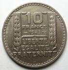 Photo numismatique  Monnaies Monnaies Françaises Gouvernement Provisoire 10 Francs 10 francs Turin 1945 Rameaux courts, G.810 SUPERBE + Rare et belle qualité!!!
