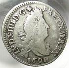 Photo numismatique  Monnaies Monnaies Royales Louis XIV Médaille 4 Sols aux 2 L LOUIS XIV, 4 sols aux 2 L, 1691 A, G.106 TB à TTB