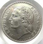 Photo numismatique  Monnaies Monnaies Françaises Troisième République 5 Francs 5 francs Lavrillier 1933, G.760 SUPERBE+ courante mais difficile à trouver en bel état!!!
