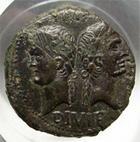 Photo numismatique  Monnaies Empire Romain AUGUSTE, AUGUSTUS, AUGUSTO Dupondius de Nîmes AUGUSTE et AGRIPPA, Dupondius de Nîmes, 2ème type, après 10 avant jésus Christ, RIC.158 TTB