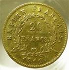 Photo numismatique  Monnaies Monnaies Française en or Second Empire 20 Francs or NAPOLEON Ier, 20 francs or 1812 A, G.1025 TTB