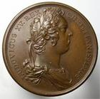 Photo numismatique  Monnaies M�dailles Louis XV M�daille bronze LOUIS XV, 1730, medaille en bronze 41mm, DUX ANDECAVENS NATIS, graveur Duvivier, Quasi SUPERBE