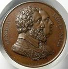 Photo numismatique  Monnaies M�dailles Louis XVIII M�daille bronze LOUIS XVIII, 1817, r�tablissement de la statue d'Henri IV, m�daille en bronze 32.50mm, Quasi SUPERBE