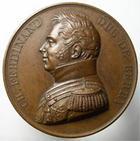 Photo numismatique  Monnaies Médailles 19ème siècle Médaille bronze CHARLES FERDINAND, Duc de Berry, 26 Aout 1829, Adieux du prince, medaille en bronze 40.80mm, garveur:Gayrard, Quasi SUPERBE
