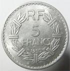 Photo numismatique  Monnaies Monnaies Françaises 4ème république 5 Francs 5 francs Lavrillier 1950, G.766a TTB+