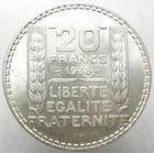 Photo numismatique  Monnaies Monnaies Fran�aises Troisi�me R�publique 20 Francs 20 francs Turin 1938, G.852 SUPERBE beau brillant!!