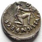 Photo numismatique  Monnaies Empire Romain AUGUSTE, AUGUSTUS, AUGUSTO Denier, denar, denario, denarius AUGUSTE, Rome en 19 avant JC, TURPILIANUS, RIC.288 SUPERBE très belle monnaie avec une jolie patine!!!