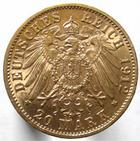 Photo numismatique  Monnaies Monnaies étrangères Allemagne Baden 20 Mark or BADEN, BADE, Friedrich II, 20 mark or 1912 G, Jaeg.192 TTB+